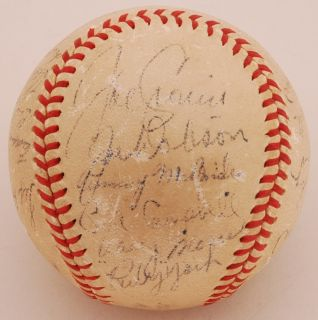 1946 Boston Red Sox Team Signed Baseball Al Champs GAI w Cronin Moses