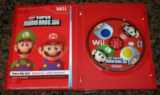 Nintendo Wii Game New Super Mario Bros Wii