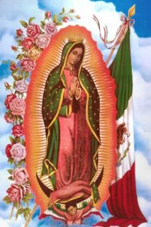 Our Lady of Guadalupe Mexico Virgin Mary Mexican Flag