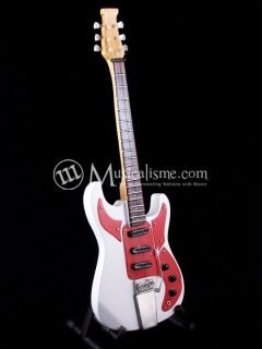 Miniature Guitars Hank Marvin Burns White 1964 Custom Signature Free
