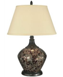Dale Tiffany Table Lamp, Art Glass Urn