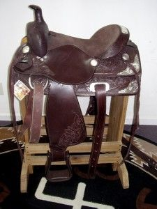 15 5 McKinney Show Trail Western Saddle Horse Tack Loaded with Silver