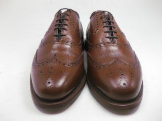 Worn 1x Allen Edmonds McClain Chili Wingtip Dress Shoes Oxfords 9 D