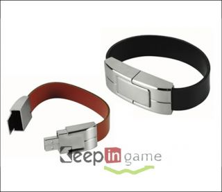 Leather Bracelet USB Flash Memory Stick Drive 8GB 8 GB