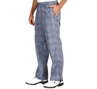 Oakley Swagger Pants White Size 32 Mens Blue Plaid Casual Golf Dress