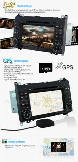 Car GPS DVD Player BT Ipod F/Mercedes Benz Viano Vito Class W169 W245