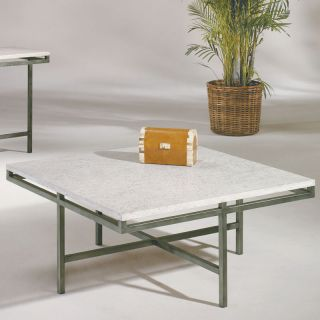 Metal Stone Modern Square Coffee Table