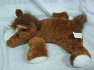 Mary Meyer Flip Flops Brown White Horse 12 Plush Stuffed Animal Toy