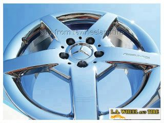 SET OF 4 NEW 17 MERCEDES BENZ CLK500 AMG CHROME OEM WHEELS RIMS 65346