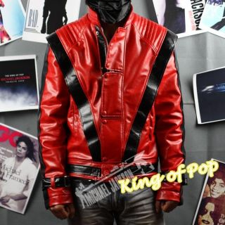 Michael Jackson MJ Thriller MV Costume Leather Jacket