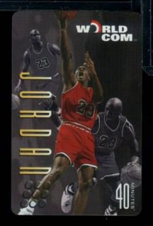 IC 1997 Worldcom Michael Jordan 40 Minute Phone Card Chicago Bulls