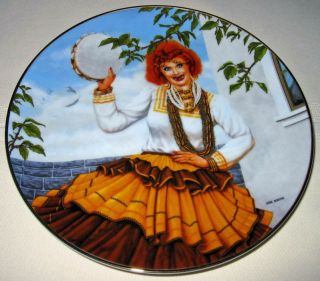 Love Lucy Lucille Ball Queen of Gypsies Plate MIB COA