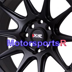 XXR 527 Black White Stripe Rims Concave Wheels 89 94 Nissan 240sx S13