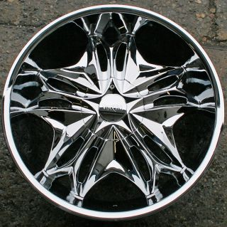 VISCERA 728 22 CHROME RIMS WHEELS INFINITI G35 G37 2DR 4DR / 22 X 8.5