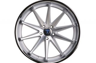 G37 G37S Coupe Rohana RC10 Concave Silver Staggered Wheels Rims