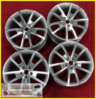 12 Chevy Malibu 18 Machined Silver Wheels Used Rims Set 5361