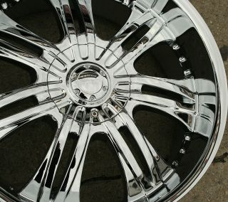 Incubus Overlord 523 22 Chrome Rims Wheels Cadillac Escalade 99 Up