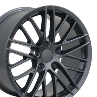18 Corvette C6 ZR1 Gunmetal Wheels Set of 4 Rims Fit Chevrolet
