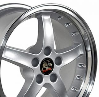 17 9 10 5 Silver Cobra Wheels Rims Fit Mustang® 94 04