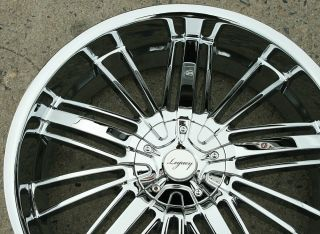 LEGACY LG7 22 CHROME RIMS WHEELS CROWN VICTORIA TOWNCAR / 22 X 8.5 5H