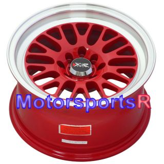 16 16x8 XXR 531 RED +20 Rims Wheels Deep Dish Stance 4x100 01 Acura