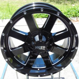 MO962 Black Wheels Rims Chevy GMC Dodge Ford 2500 3500 HD 8x6 5