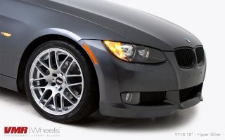 18x8 5 9 5 VMR 718 Hyper Silver Staggered Wheel 5x120 Fit BMW 325 328