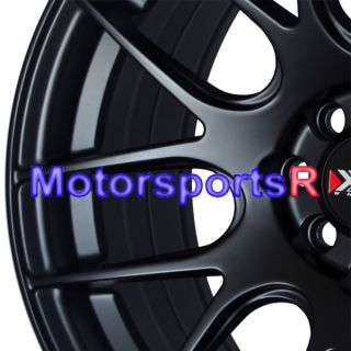 16 16x8 XXR 530 Flat Black Wheels Rims Concave Stance 98 Honda Civic