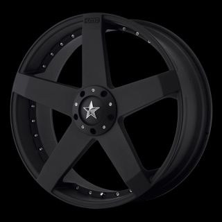 22 inch Wheels Rims Black Ford Mustang Explorer 5x4 5