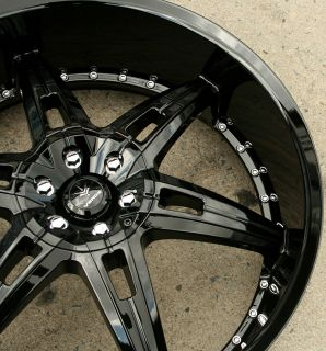 Verde Allusion 24 Gloss Black Rims Wheels Tahoe Avalanche 24 x 9 5 6H