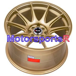 17 XXR 527 Gold Rims Staggered Wheels Concave Nissan 4x4 5 240sx s13
