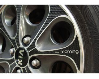Picanto/Morning 14inches Carbon Wheels Mask Decal Sticker car Vehicle