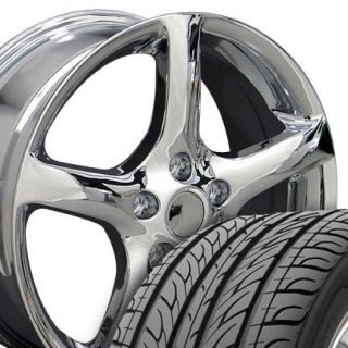 17 Altima Chrome Wheels Set of 4 Rims Tires Fit Nissan Maxima 300zx