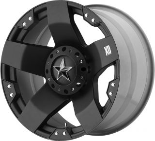 24 Black XD Rockstar Wheels 8x6 5 44mm Chevy Dodge