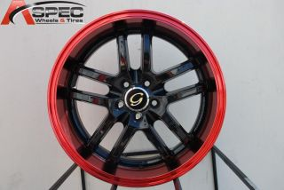 18X8 G LINE G817 WHEEL 5X108 +38 BLACK RED RIM FITS VOLVO V40 S40 V70