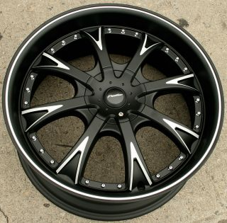Panther EVO 907 20 Black Rims Wheels Ford Fusion Flex Mustang 20 x 8