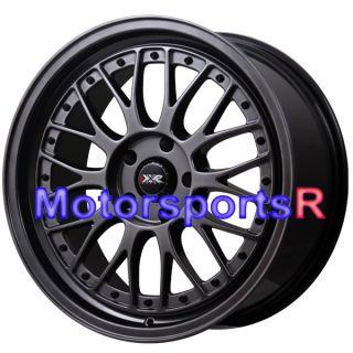 XXR 521 Chromium Black Rims Staggered Wheels 99 03 04 Ford Mustang GT
