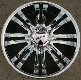 Elite Phase 8 22 Chrome Rims Wheels Hummer H2 8H 00 10 22 x 9 5 8H 10