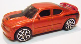 2007 Hot Wheels Dodge Charger SRT8 Orange