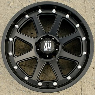 KMXD Series Addict 798 20 Black Rims Wheels Dodge Durango Lifted 20 x