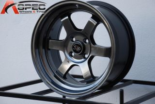 16x8 Rota Grid V 4x100 20 Hyper Black Wheel Fits Civic MR2 XB