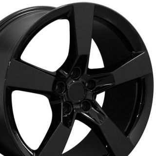 Machined Black Camaro SS Wheels Set of 4 Rims Fits Chevrolet