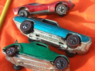 1967 Custom T Bird 36 Ford Coupe 1968 Torero Redline Hot Wheels