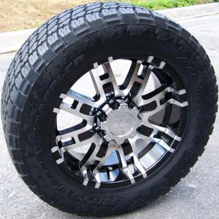 20 HELO 835 WHEELS & NITTO TERRA TIRES GRAPPLER CHEVY TAHOE ESCALADE