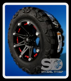 JESTER 6X5.5 W/ 35X12.50X20 NITTO MUD GRAPPLER MT TIRES WHEELS RIM
