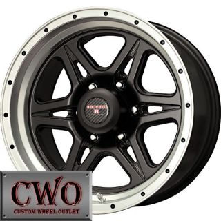 17 Black Strike 6 Wheels Rims 6x135 6 Lug Ford F150 Expedition Lincoln