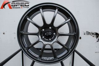 17X8 ROTA G FORCE 5X100 +48 HYPER BLACK WHEEL FITS SUBARU WRX STI