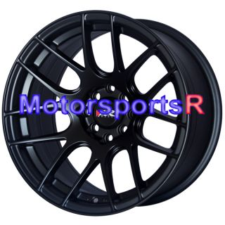 16 16x8 25 XXR 530 Flat Black Concave Rims Wheels Stance 03 04 05 06