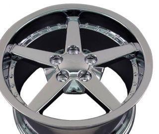 18 Chrome Wheels Rims Fit 1988 2004 Corvette C4 C5 C6
