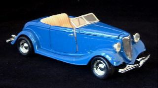 1934 Ford Roadster Motormax Diecast 1 24 Scale Blue